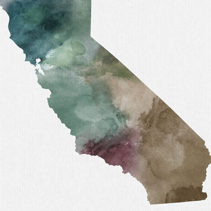 California State map print detail