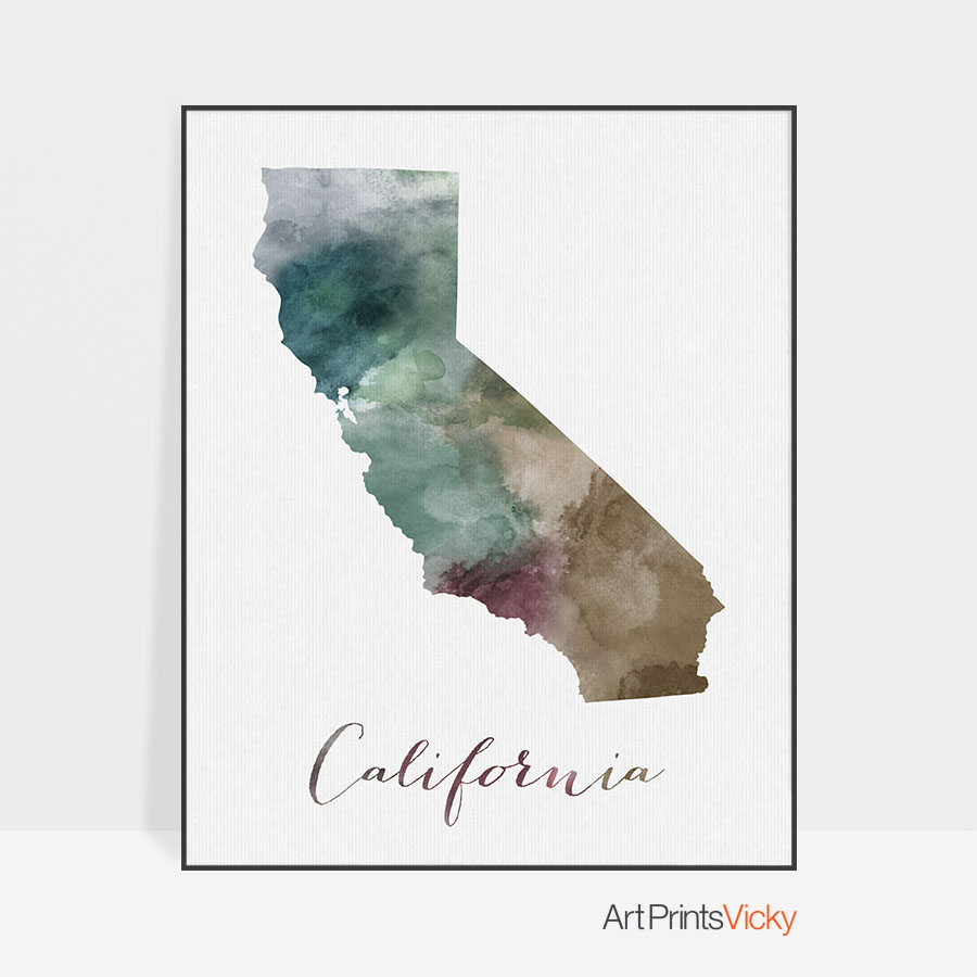 photo regarding California State Map Printable titled California Place map print