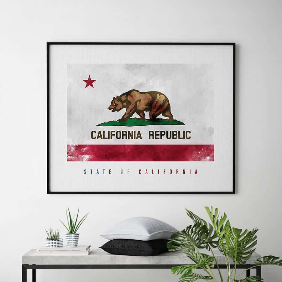 California State flag art print second