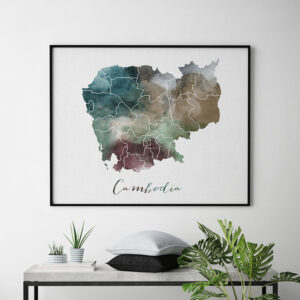 Cambodia map poster second