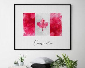 Canada flag art print second