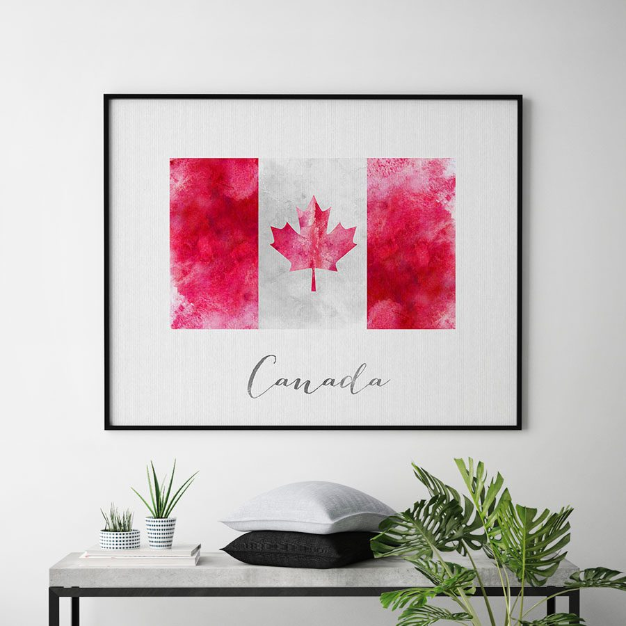 Canada flag art print second