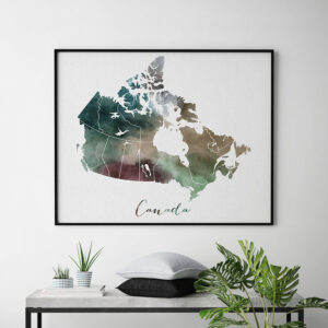 Canada map poster second