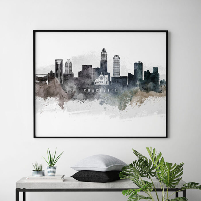 Charlotte art poster watercolor second