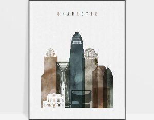 Charlotte art print watercolor 2
