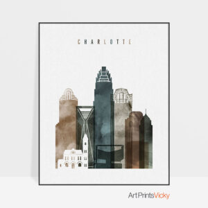 Charlotte art print watercolor 2