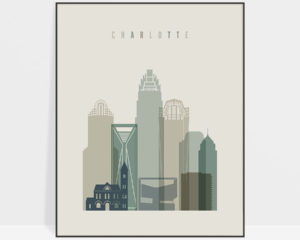 Charlotte print skyline earth tones 1