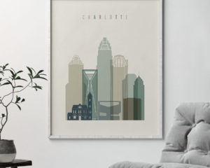 Charlotte print skyline earth tones 1 second
