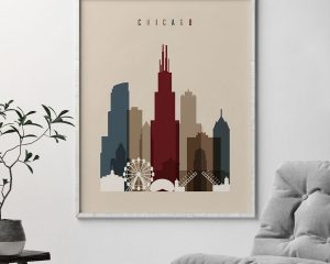 Chicago poster earth tones 2 second