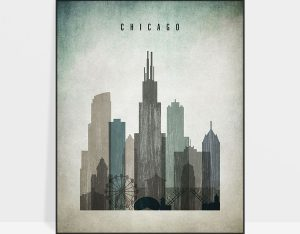 Chicago poster distressed 3