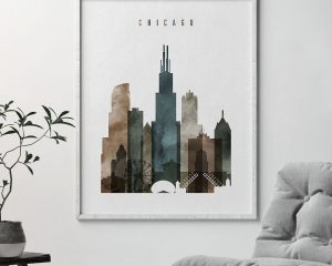 Chicago poster watercolor 2 second