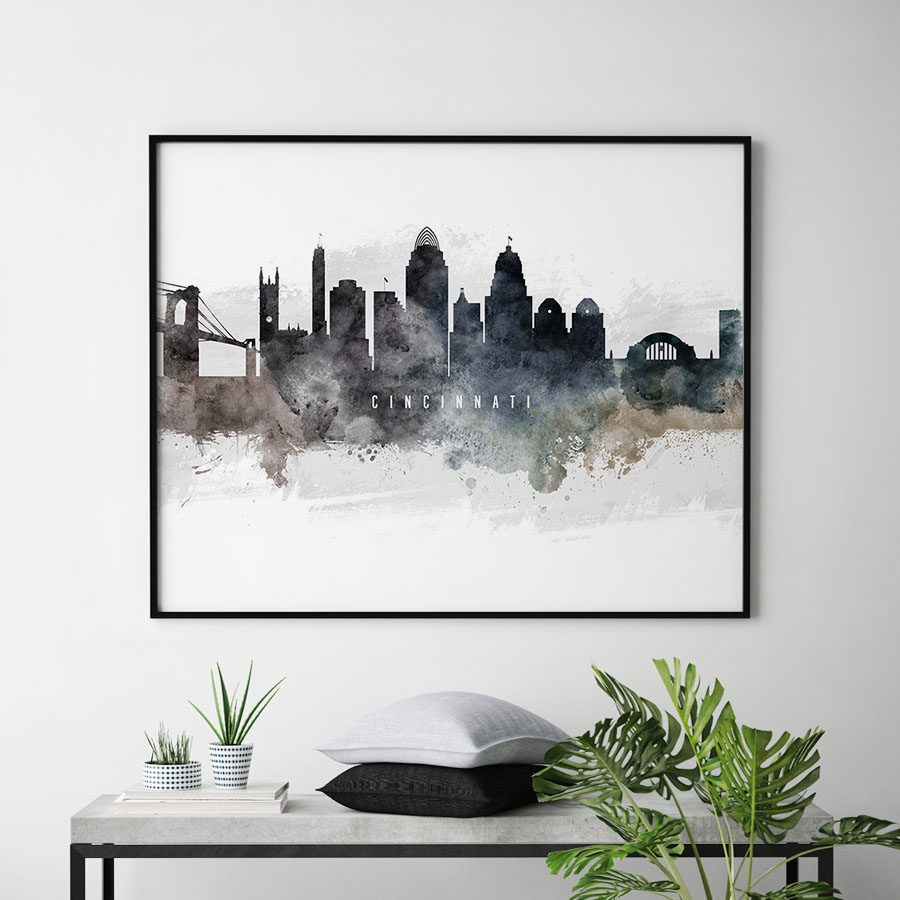 Cincinnati skyline poster landscape second