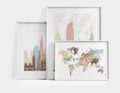 Unique City Skyline Prints