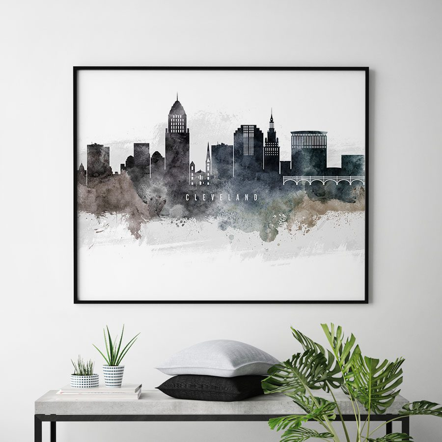 Cleveland art poster watercolor second