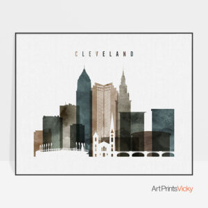 Cleveland poster watercolor 2 landscape