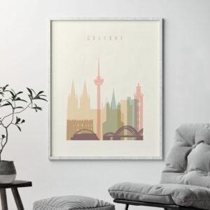 Cologne art print pastel cream second