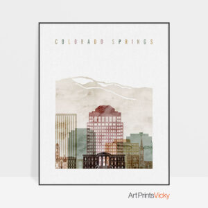 Colorado Springs art print watercolor 1