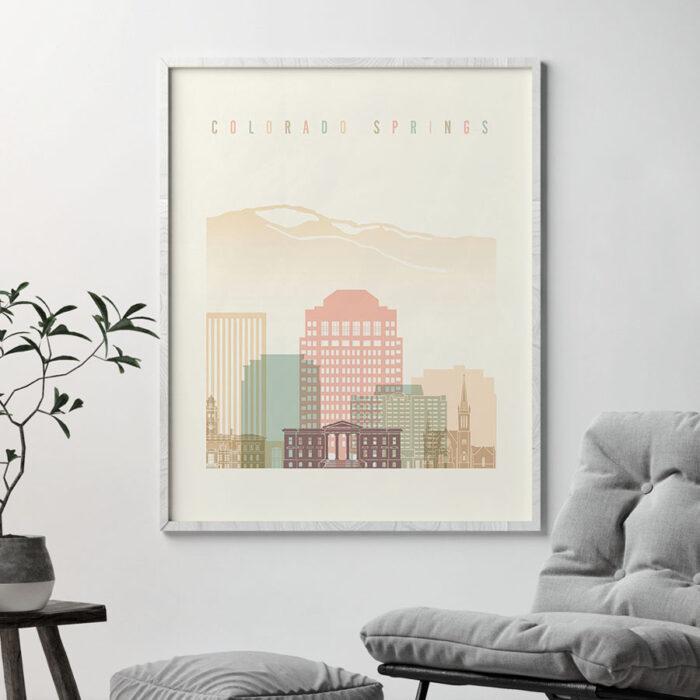Colorado Springs art print pastel cream second