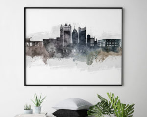 Columbus art poster watercolor second