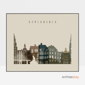 Copenhagen art print landscape earth tones 3