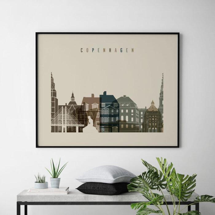 Copenhagen art print landscape earth tones 3 second