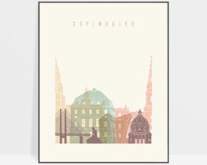 Copenhagen art print pastel cream