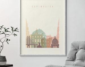 Copenhagen art print pastel cream second
