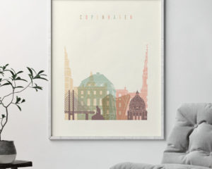 Copenhagen art print pastel cream second