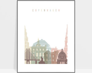 Copenhagen wall art pastel white