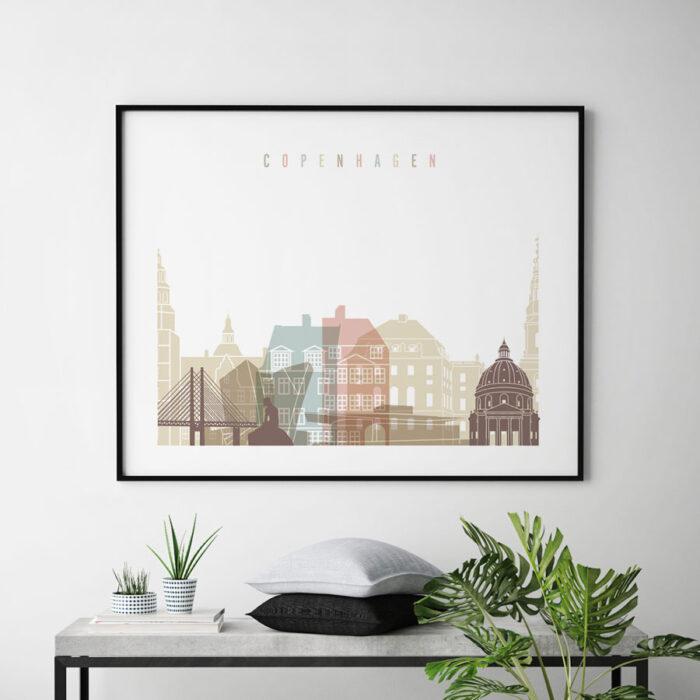 Copenhagen print pastel white landscape second
