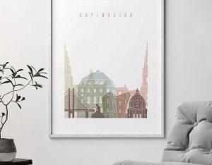 Copenhagen wall art pastel white second