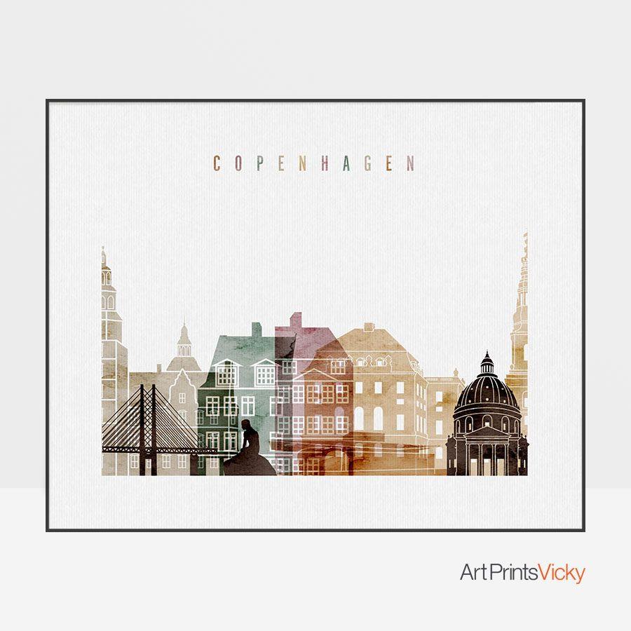 Copenhagen Poster Watercolor 1 Landscape
