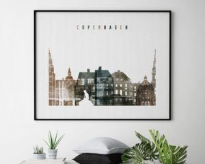 Copenhagen art print watercolor 2 landscape second