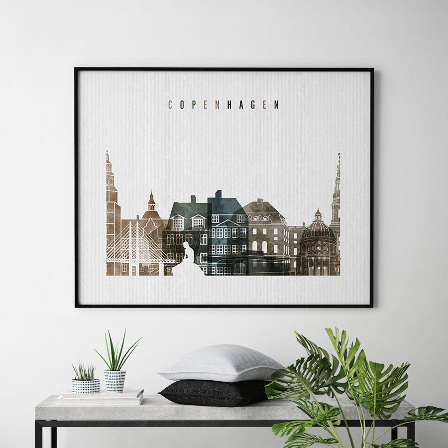 Copenhagen art print watercolor 2 landscape second