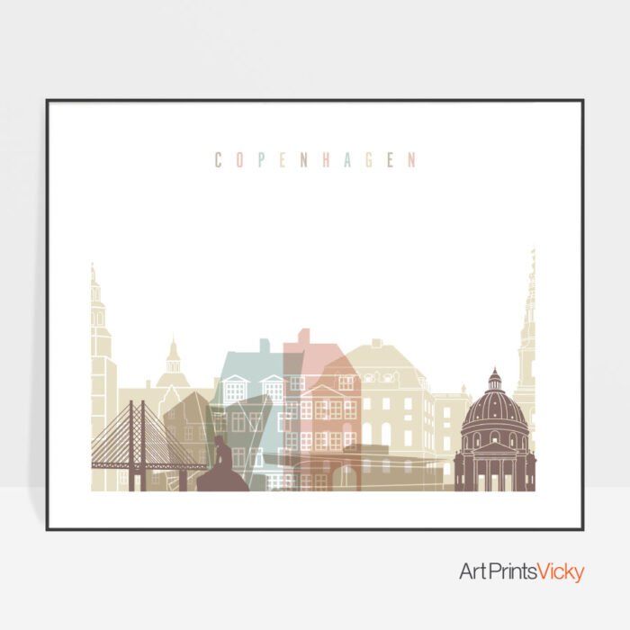 Copenhagen print pastel white landscape
