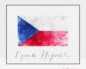 Czech Republic flag poster