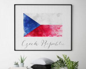 Czech Republic flag poster second