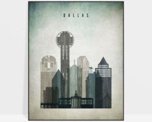 Dallas poster distressed 3