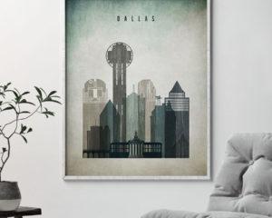 Dallas poster distressed 3 second