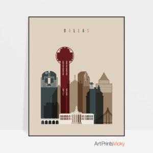 Dallas poster earth tones 2