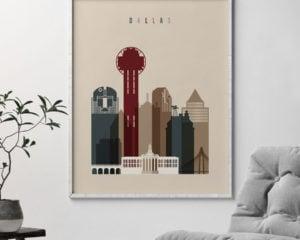 Dallas poster earth tones 2 second