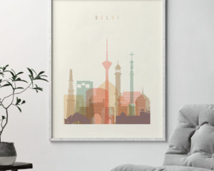 Delhi art print pastel cream second