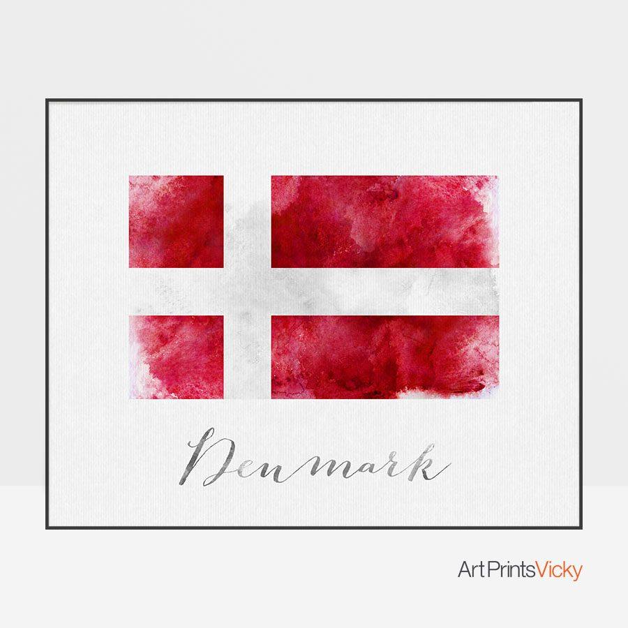 Denmark flag art print