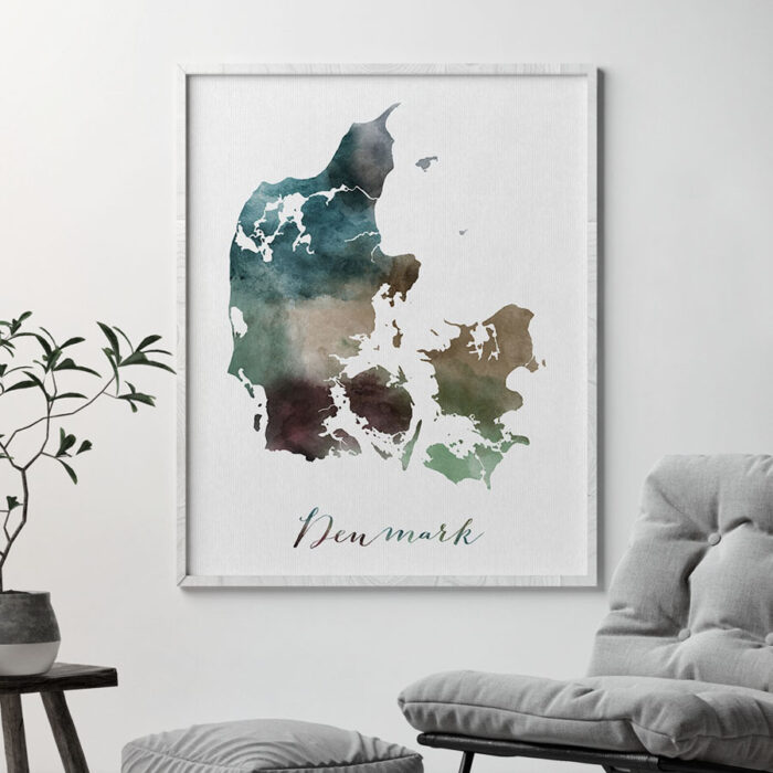Denmark map print second