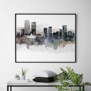 Denver art poster watercolor second