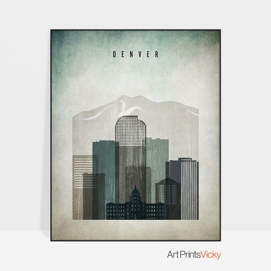 Denver poster distressed 3