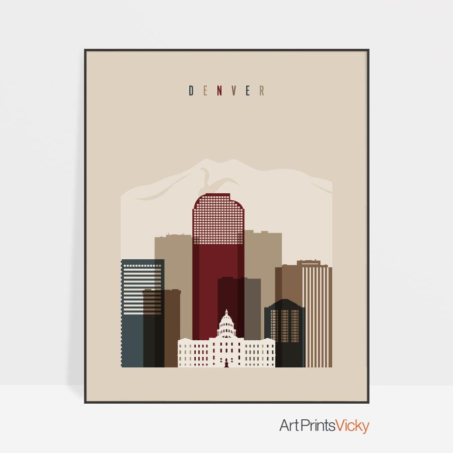 Denver poster earth tones 2