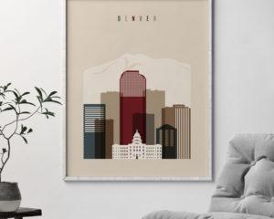 Denver poster earth tones 2 second