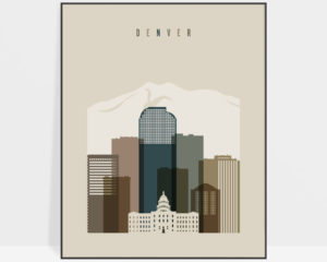 Denver art print earth tones 3