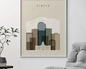 Denver art print earth tones 3 second